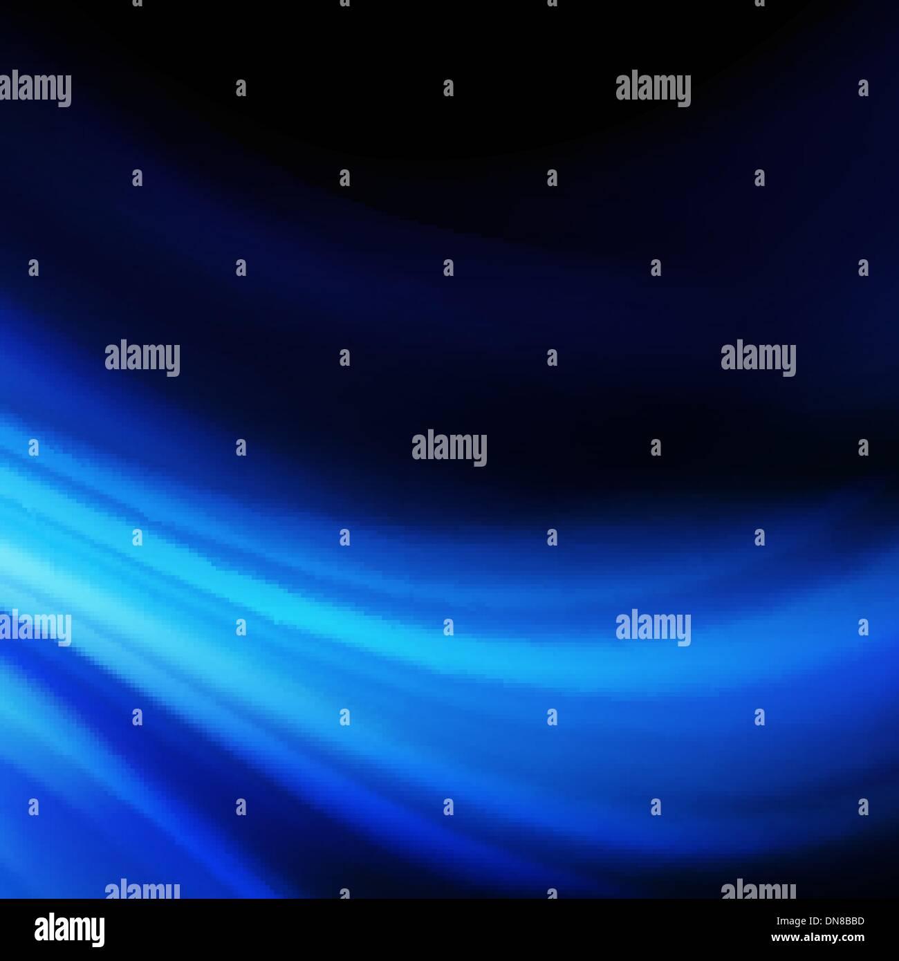 Lisse bleu twist lignes de lumière arrière-plan. Photo Stock