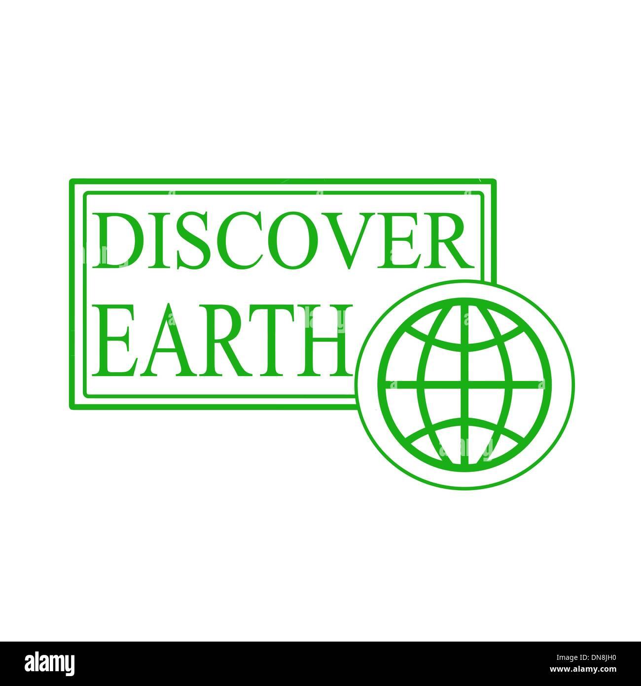 Découvrir la terre Illustration de Vecteur