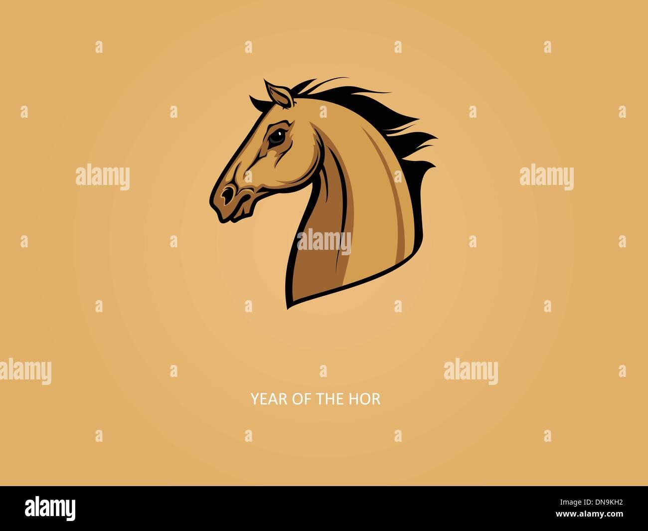 Année du cheval vector Photo Stock