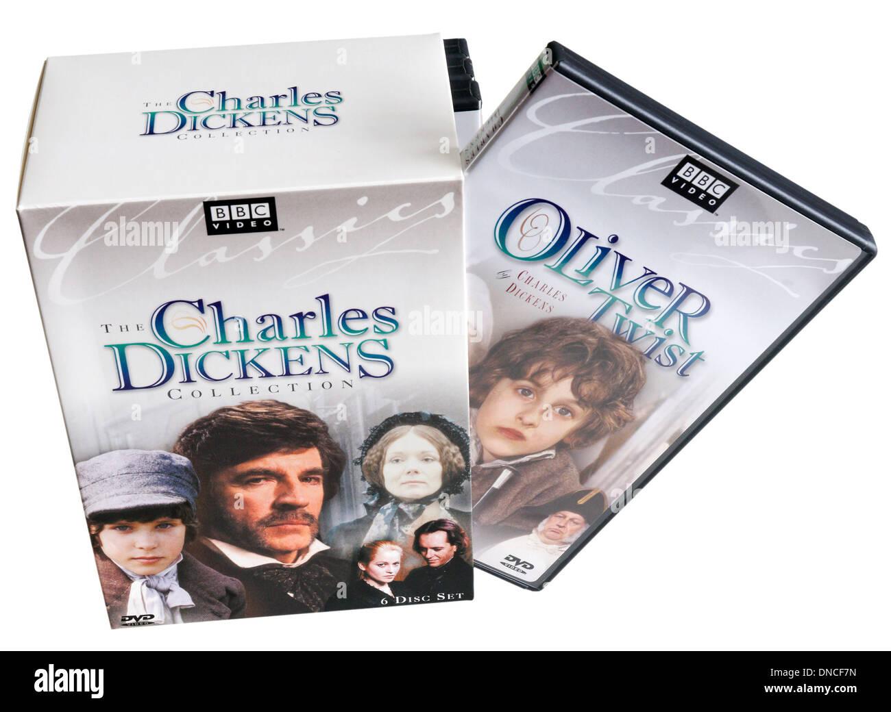 Coffret de BBC adaptation de Charles Dickens Photo Stock