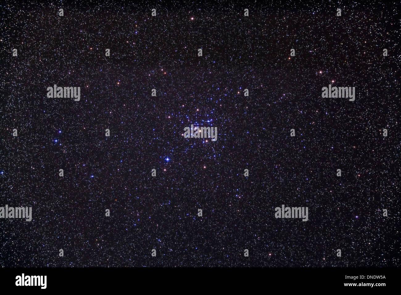 Amas d'étoiles Messier 41 ouvert au-dessous de l'étoile de Sirius dans la constellation du Grand Chien. Photo Stock