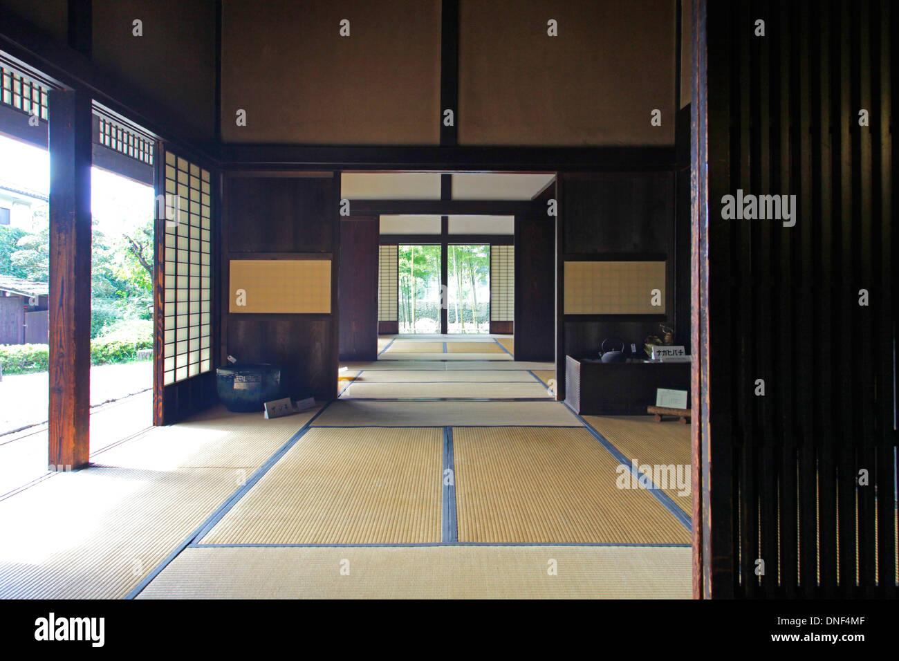 L Interieur De La Vieille Maison Japonaise Tokyo Japon Banque D