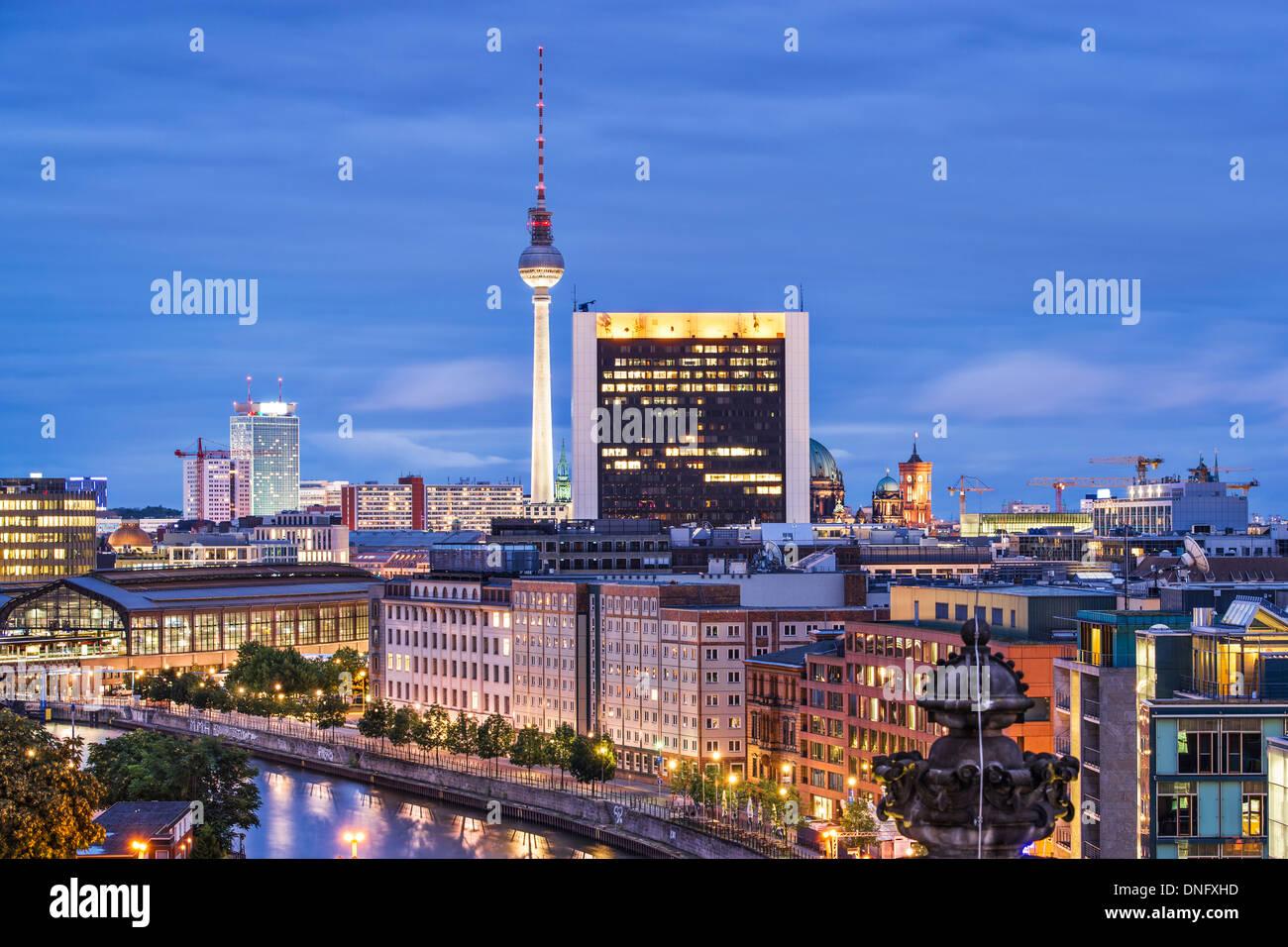 Paysage urbain de Berlin, Allemagne. Photo Stock