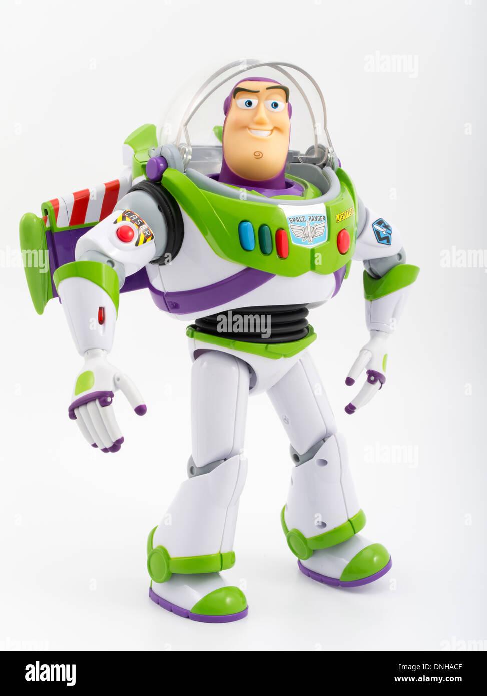 Buzz Lightyear célèbre jouet pour enfants du film Toy Story produit par  Thinkway Toys Photo Stock 30d1de28fed