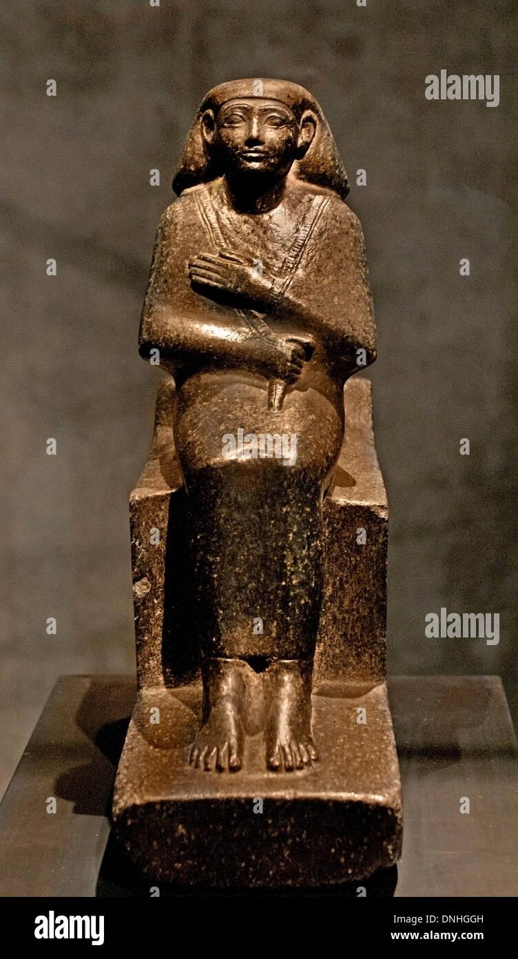 Personnage assis de Lahmes Chef des greniers du dieu Amon 1480 dynastie égyptienne Égypte 18 C.-B. Photo Stock