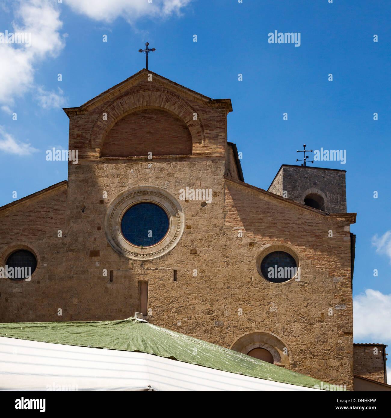 Église, Collégiale de San Gimignano, Piazza del Duomo, San Gimignano, Sienne, Province de Sienne, Toscane, Italie Banque D'Images