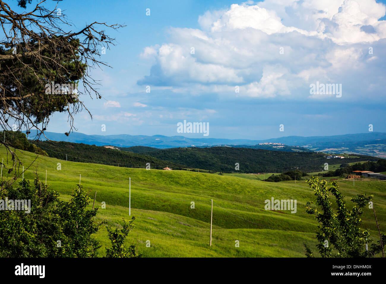 Paysage, Volterra, Province de Pise, Toscane, Italie Banque D'Images
