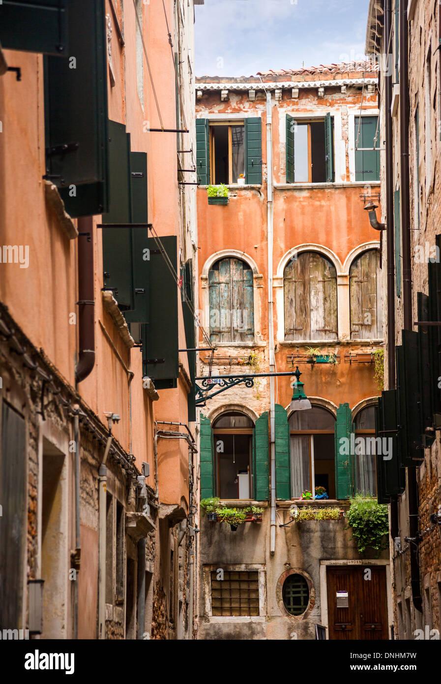 Vieux bâtiments, Venise, Vénétie, Italie Banque D'Images