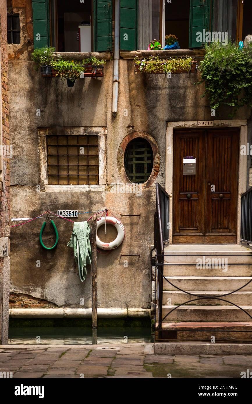 Façade d'une maison, Venise, Vénétie, Italie Banque D'Images