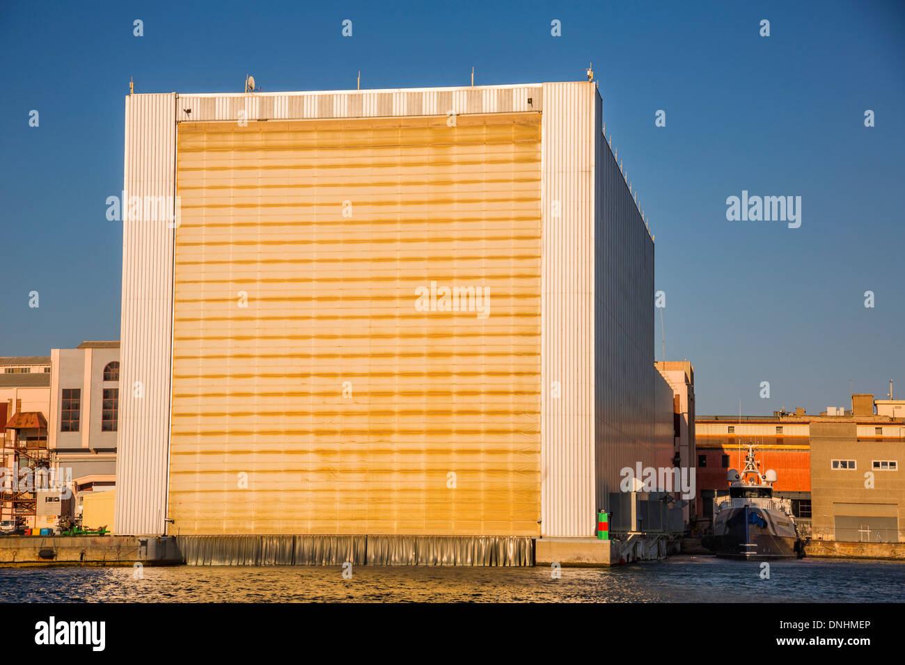 Au bord de l'édifice, Barcelone, Catalogne, Espagne Banque D'Images