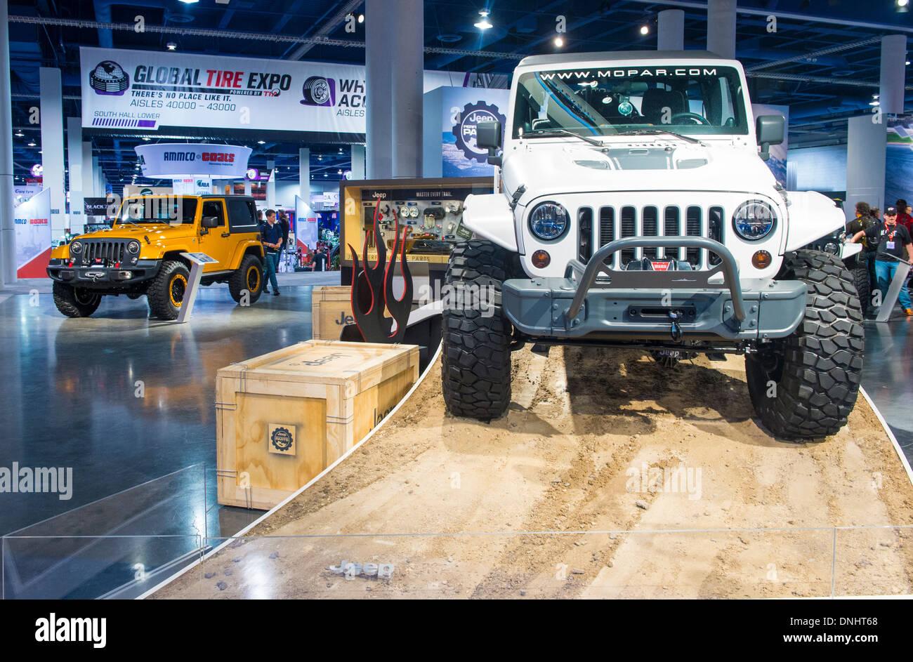 Jeep au SEMA Show à Las Vegas, Nevada, Banque D'Images