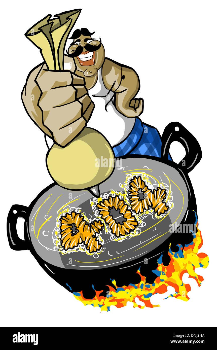 Représentation d'illustration d'un halwai jalebi en 404 Banque D'Images