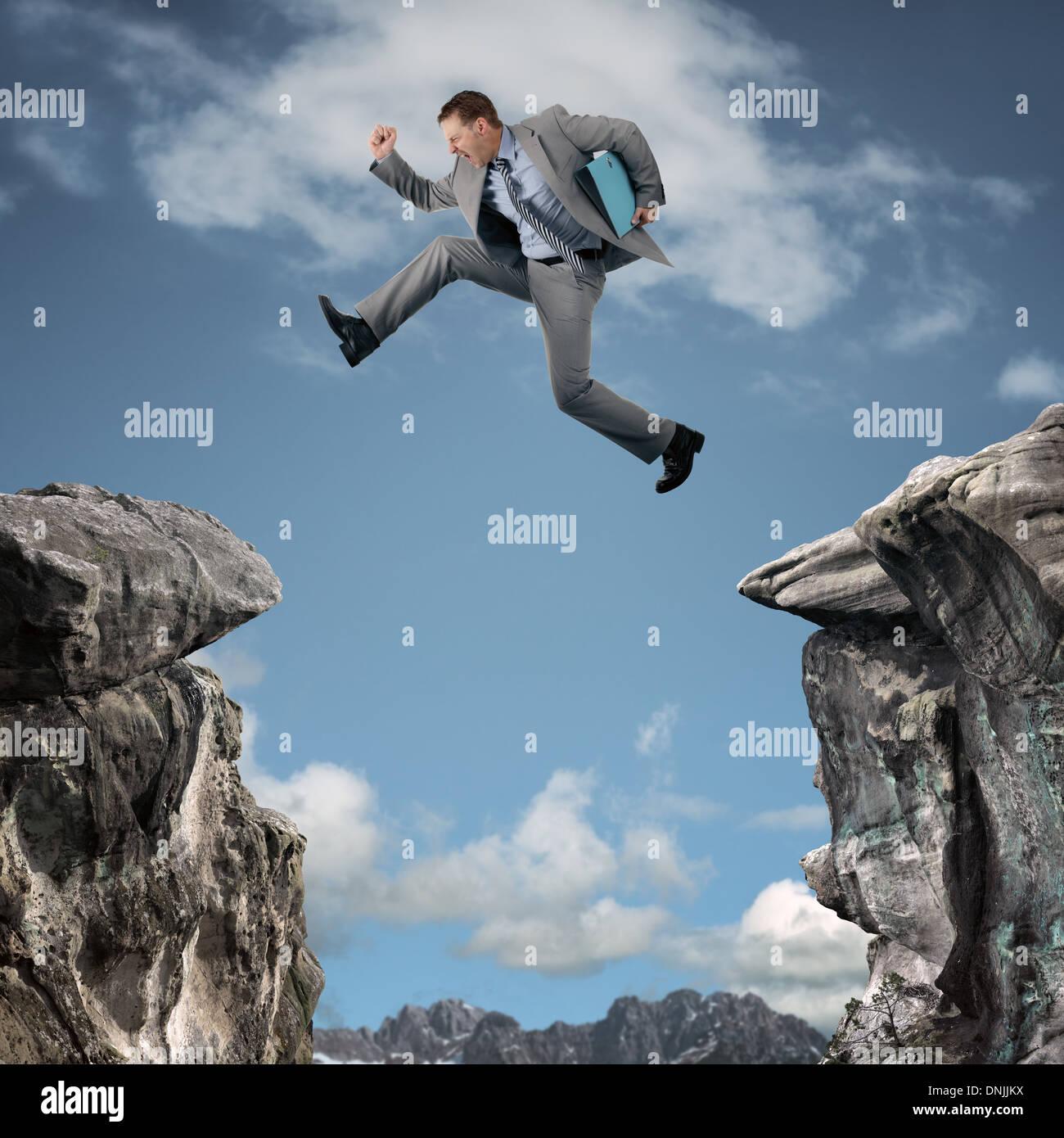 L'adversité d'affaires Photo Stock