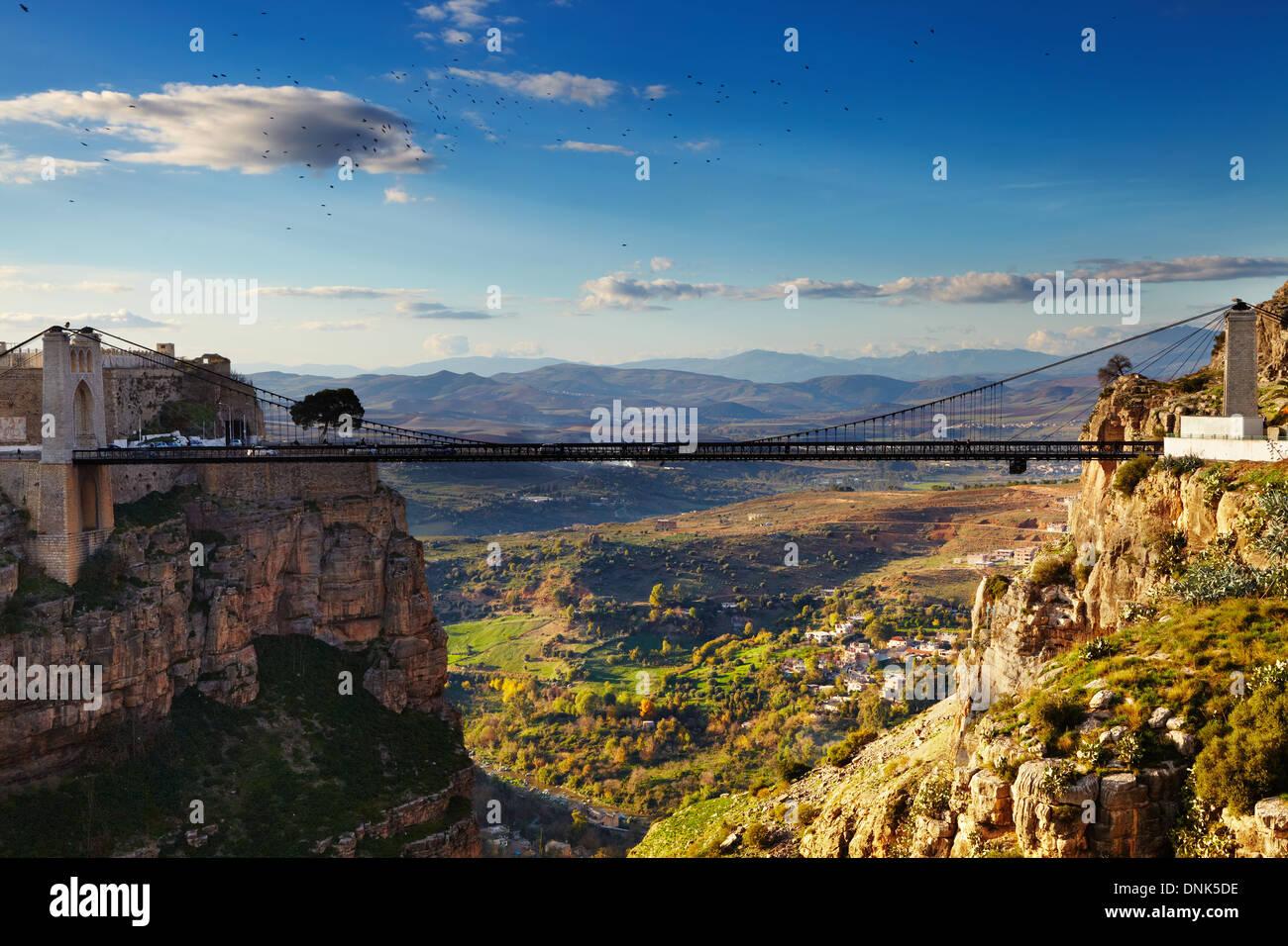 Constantine, la ville des ponts, l'Algérie Photo Stock