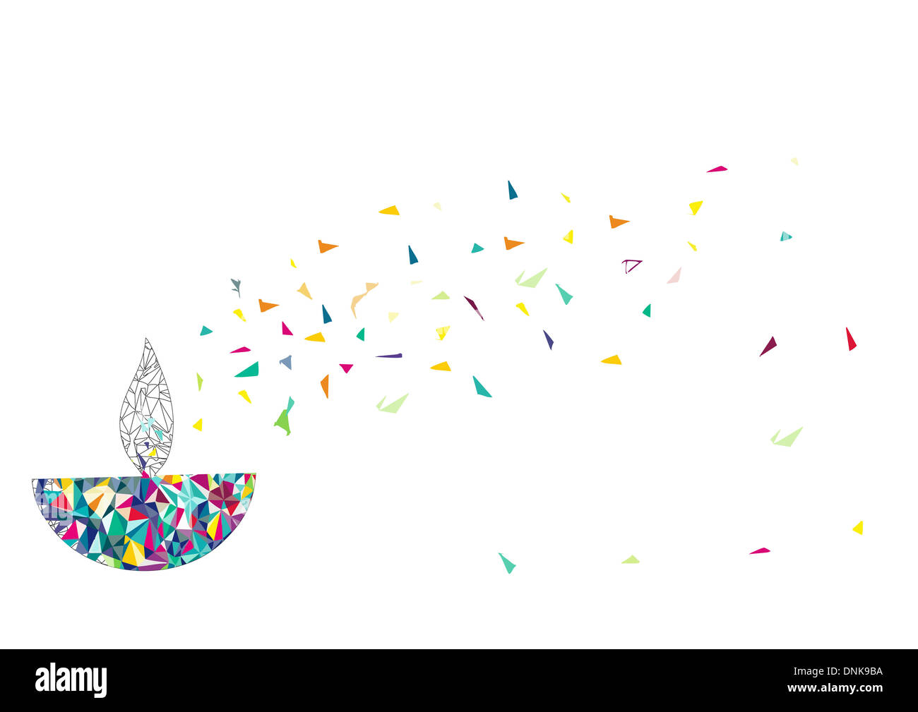 Lampe à huile Diwali isolé sur fond blanc Banque D'Images