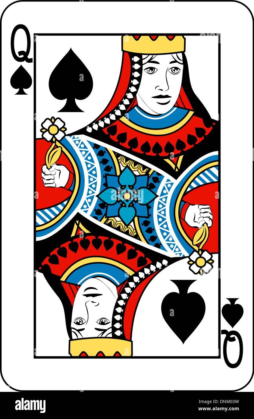 jeu de carte dame de pique La Dame de Pique jeu de carte Vecteurs Et Illustration, Image