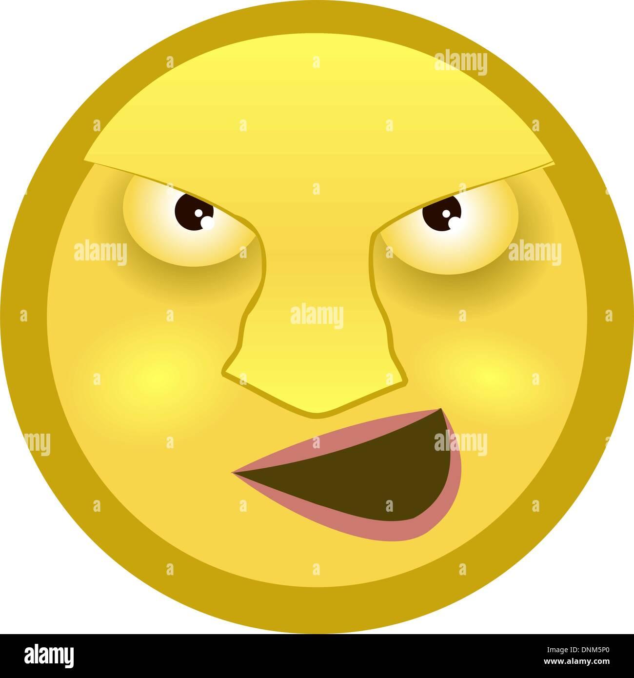 Un Emoticone Smiley Image Vectorielle Stock Alamy