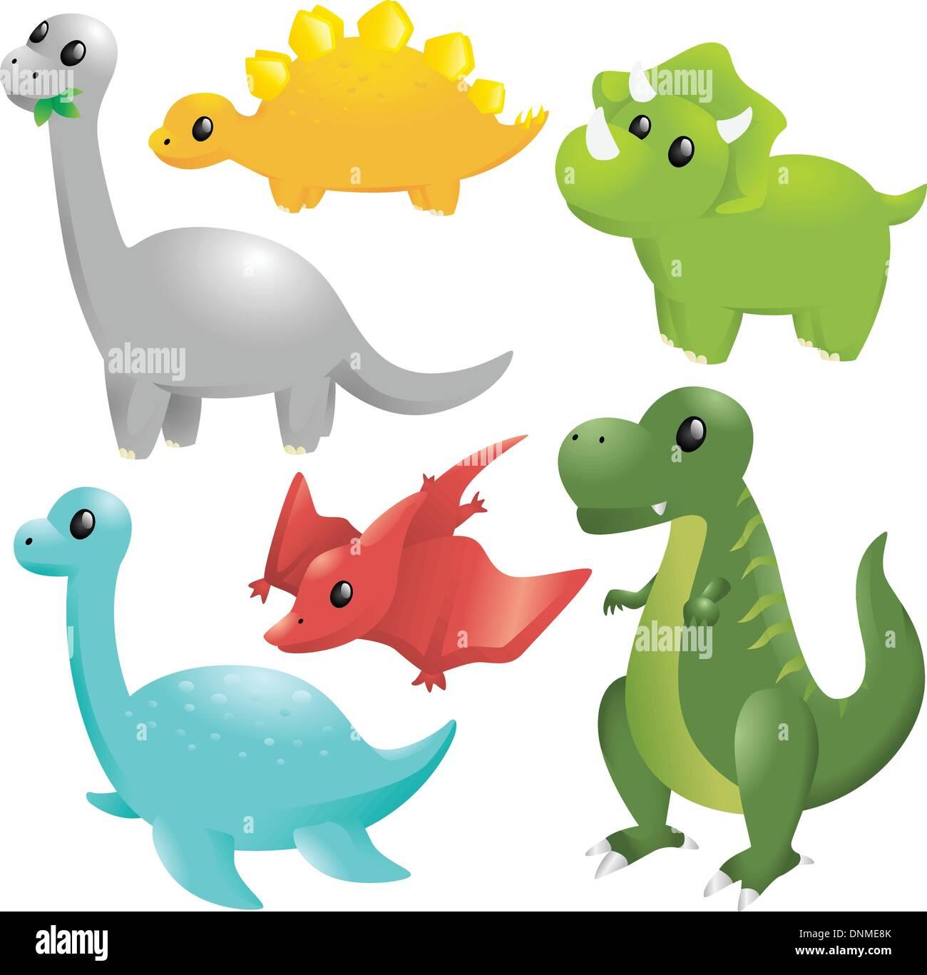 Coloriage Dinosaure Qui Se Battent.Illustration Dinosaurs Photos Illustration Dinosaurs Images Alamy