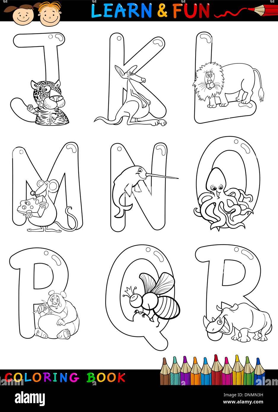 Jeux Coloriage Alphabet.Livre De Coloriage Alphabet Dessin Anime Ou D Un Jeu De Pages Avec