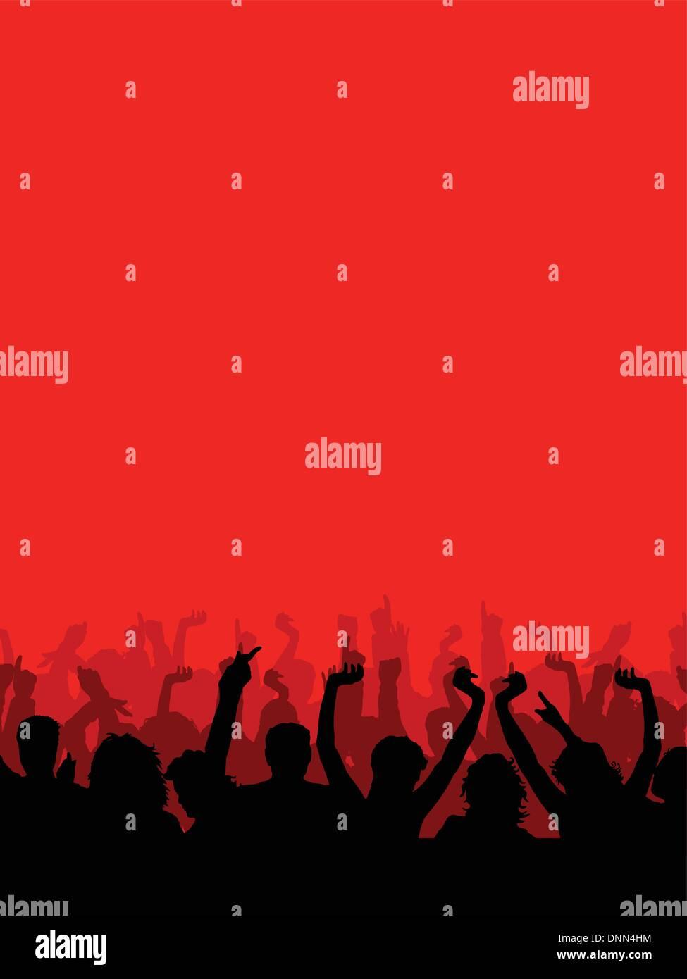 Silhouette d'un auditoire Photo Stock