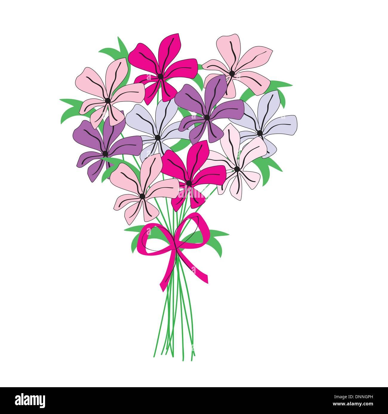 Bouquet De Fleurs Couleur De Dessin Vecteurs Et Illustration
