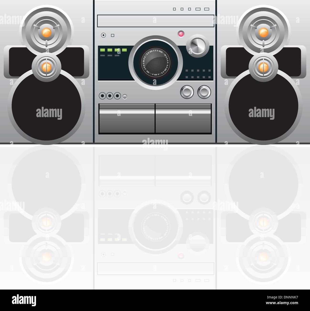 Lecteur de CD et de cassettes Photo Stock