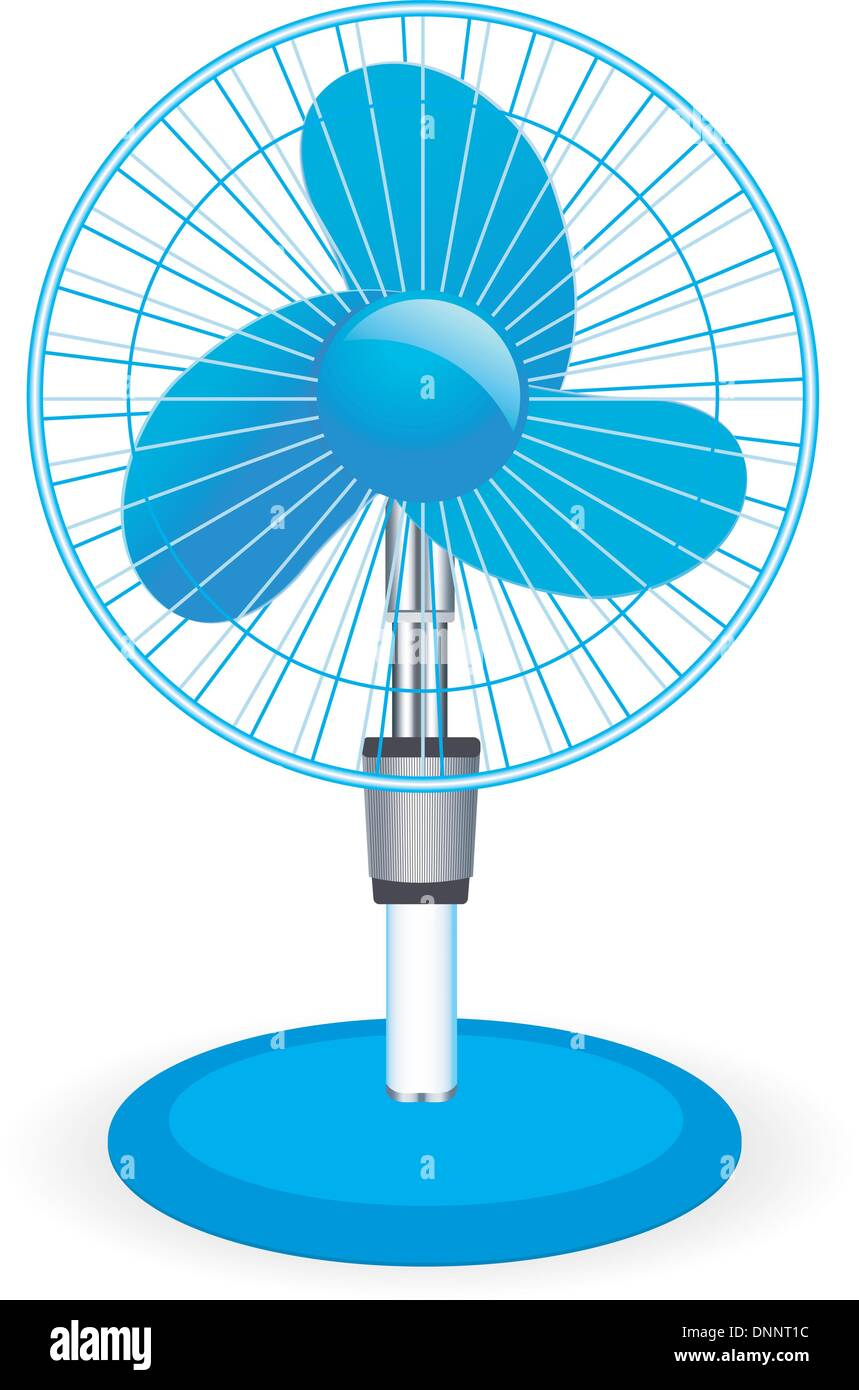 Ventilateur de table - vector illustration Photo Stock