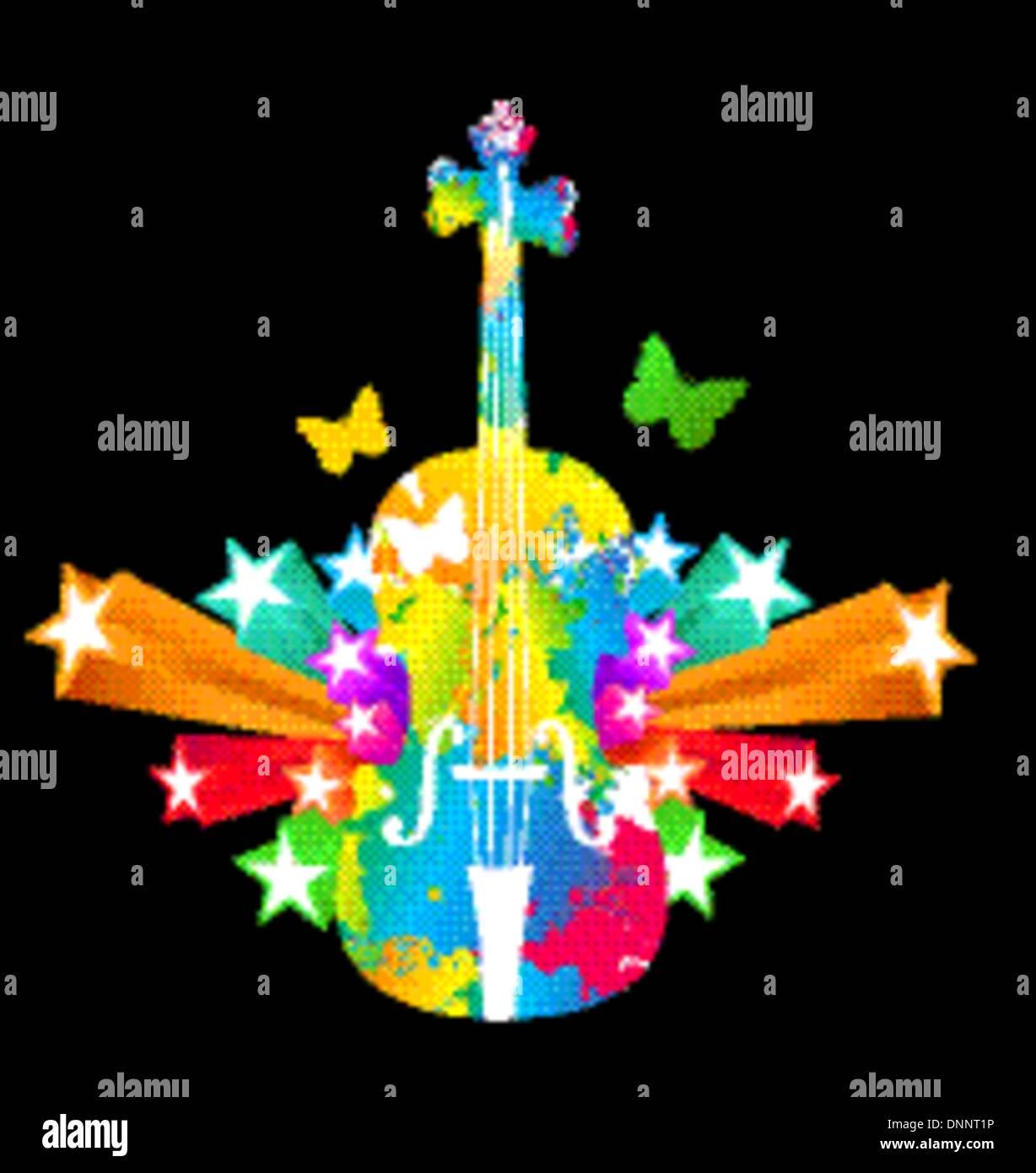 Violoncelle, violoncelle Photo Stock