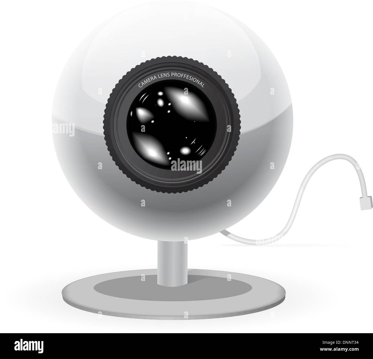Webcam vector illustration isolé sur fond blanc Photo Stock
