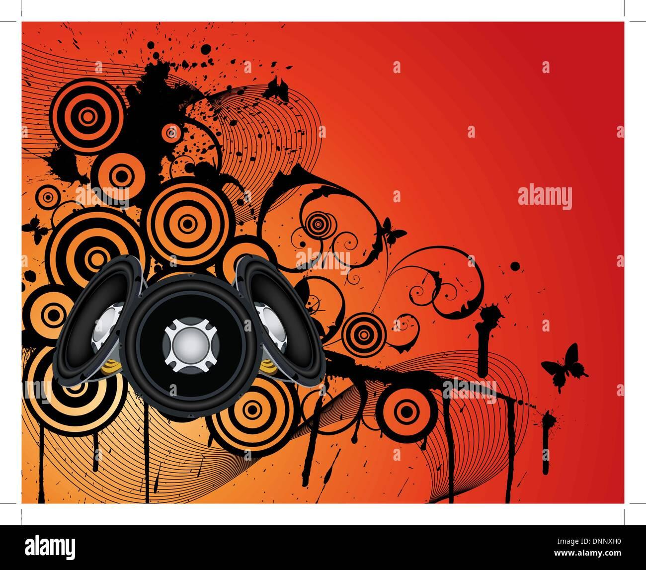 Grunge fond musical. EPS 10 vectorillustration sans transparence. Photo Stock