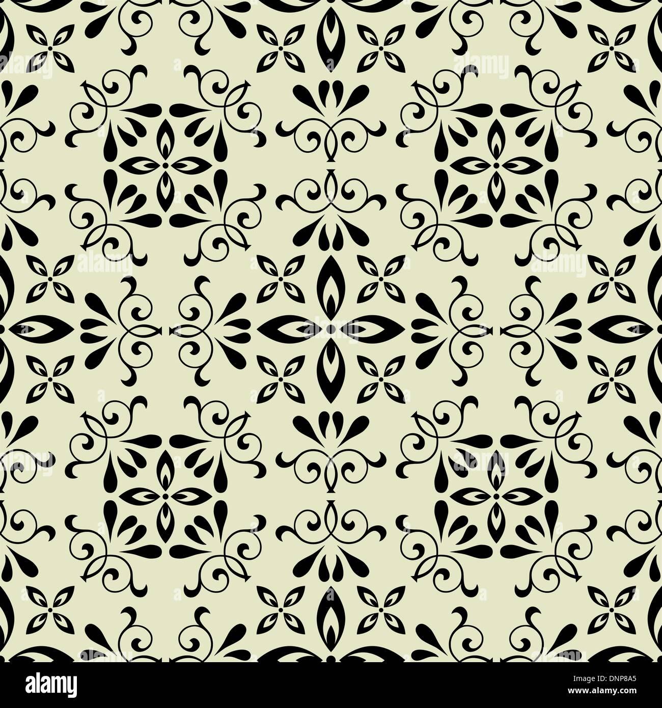 Vecteur d'art vintage motif de fond transparent Photo Stock
