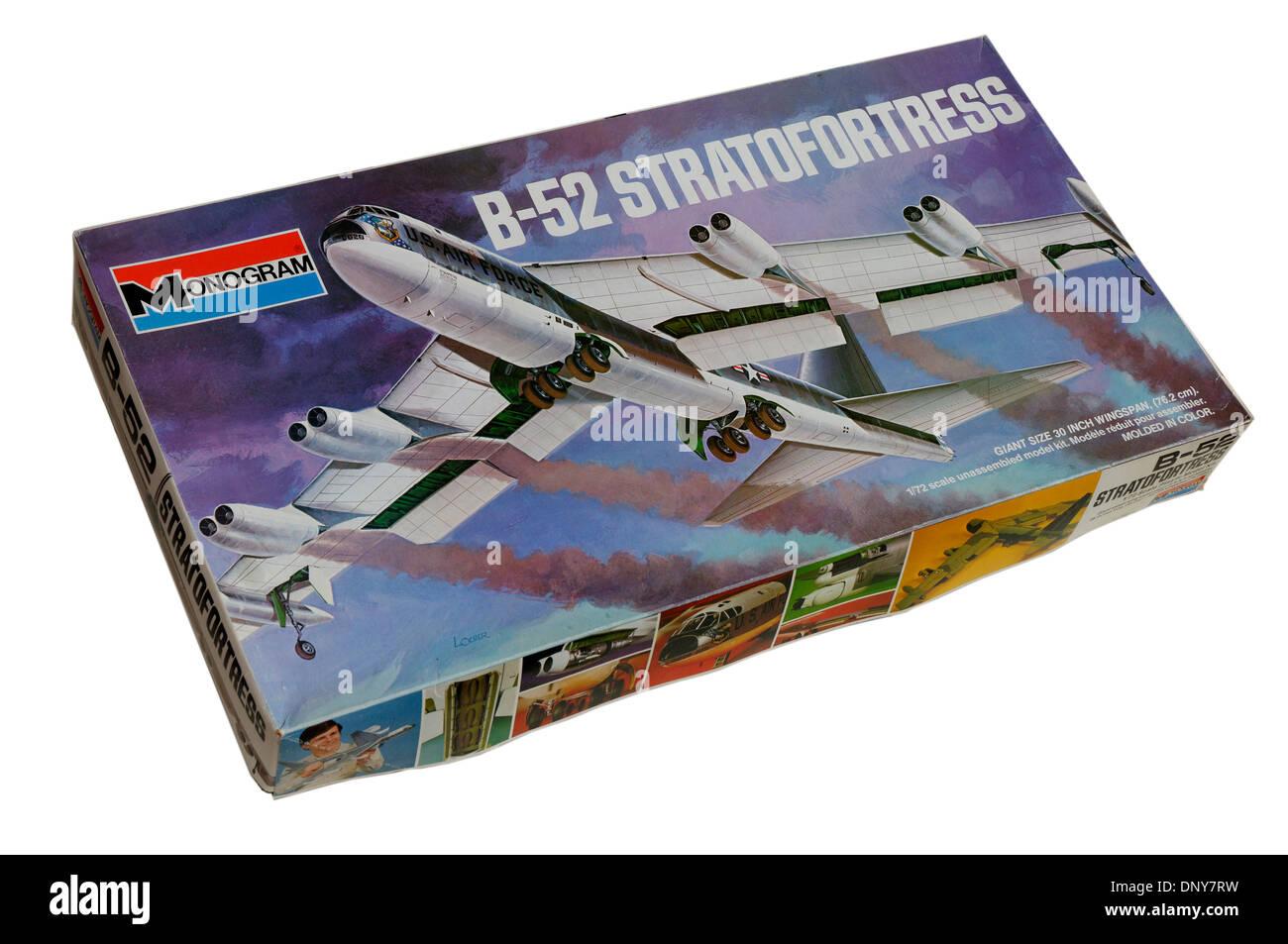 Échelle 1/72e d'un Boeing B-52 Stratofortress échelle en plastique modèle kit Banque D'Images