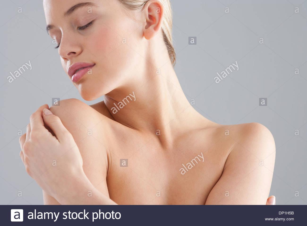 Portrait de femme torse nu Banque D'Images