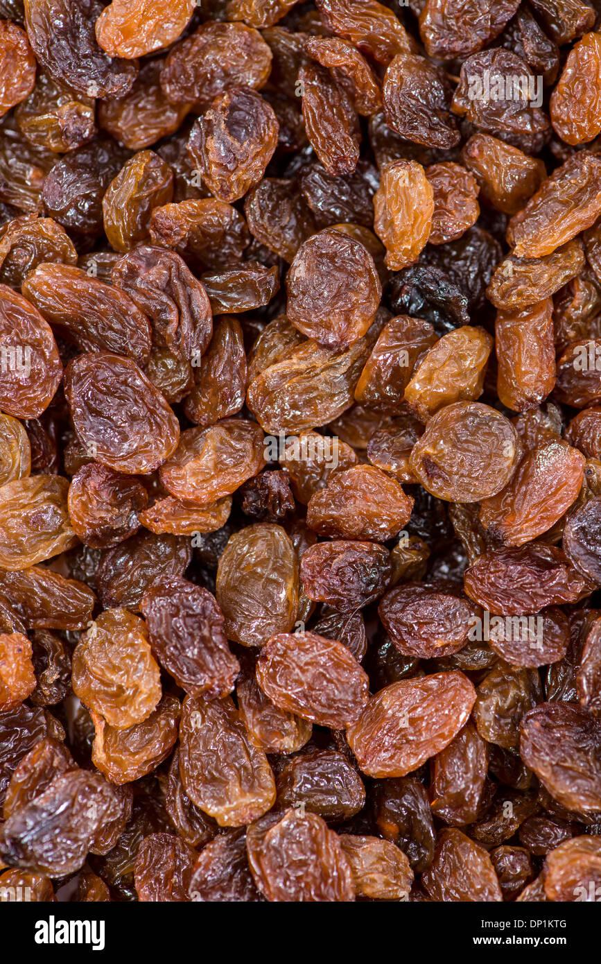 Raisins secs photo d'arrière-plan (macro shot) Banque D'Images