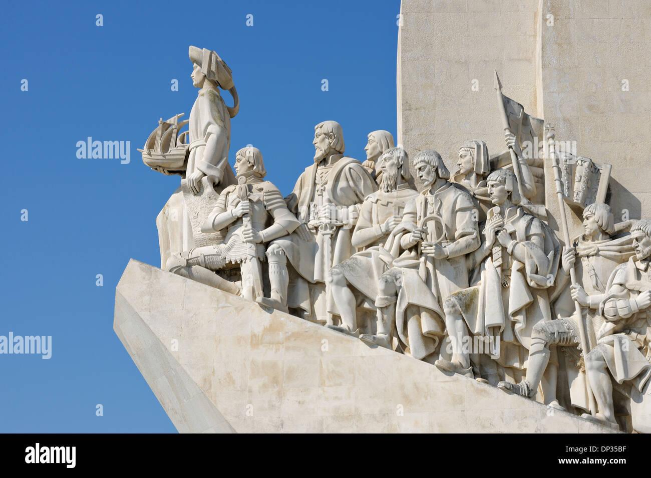 Close-up du Monument des Découvertes, Belém, Lisbonne, Portugal Banque D'Images