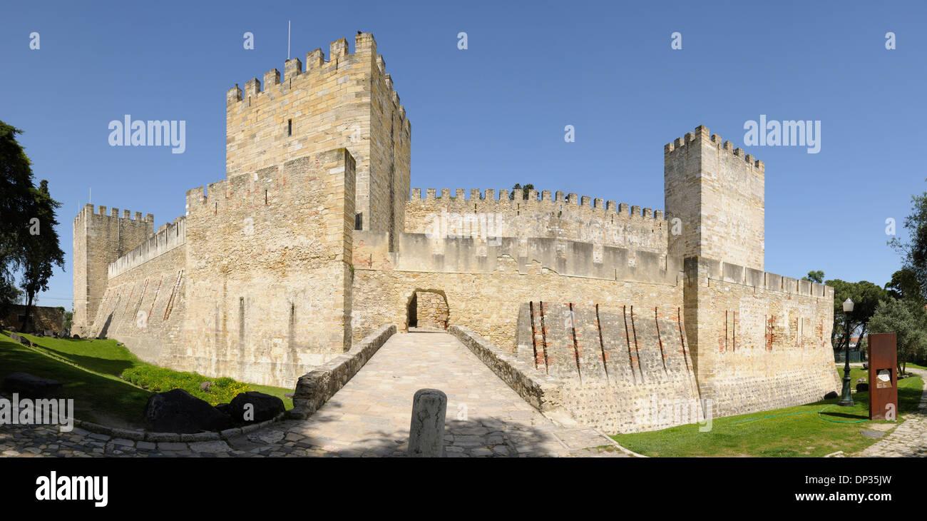 Castelo de Sao Jorge, Lisbonne, Portugal Banque D'Images