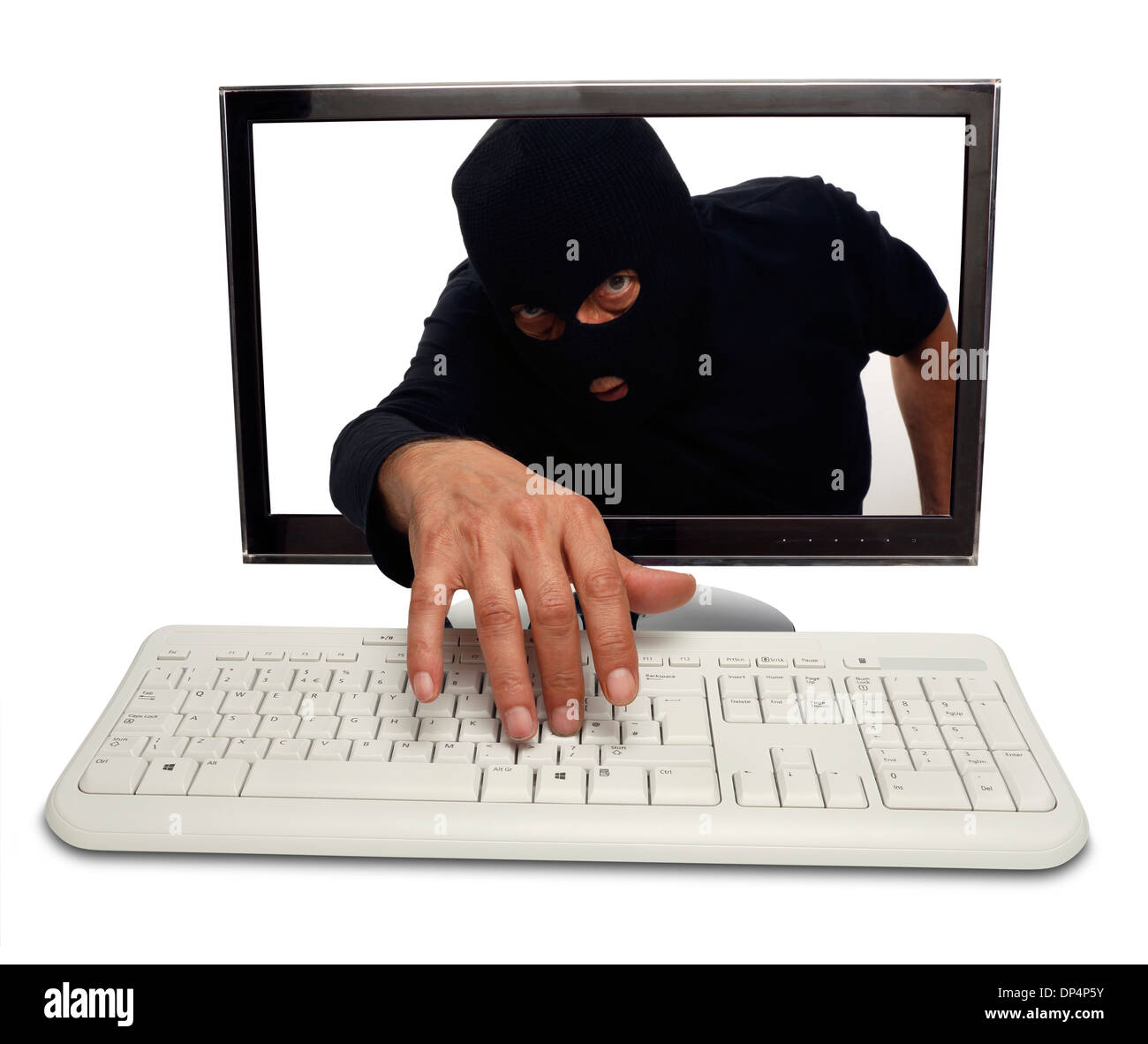 Hacking, conceptual image Photo Stock