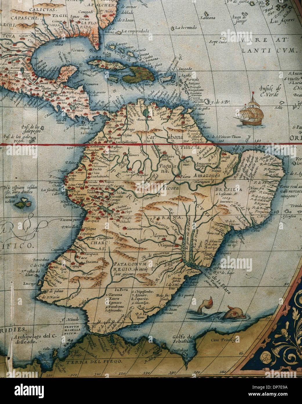Carte Amerique Du Sud Et Amerique Centrale.Carte De L Amerique Centrale Et Du Sud Theatrum Orbis Terrarum Par