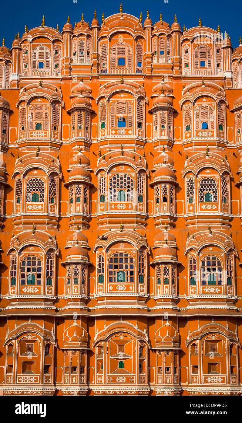 """Hawa Mahal (palais des vents"""" ou """"Palais de la brise""""), est un palace à Jaipur, Inde Photo Stock"""