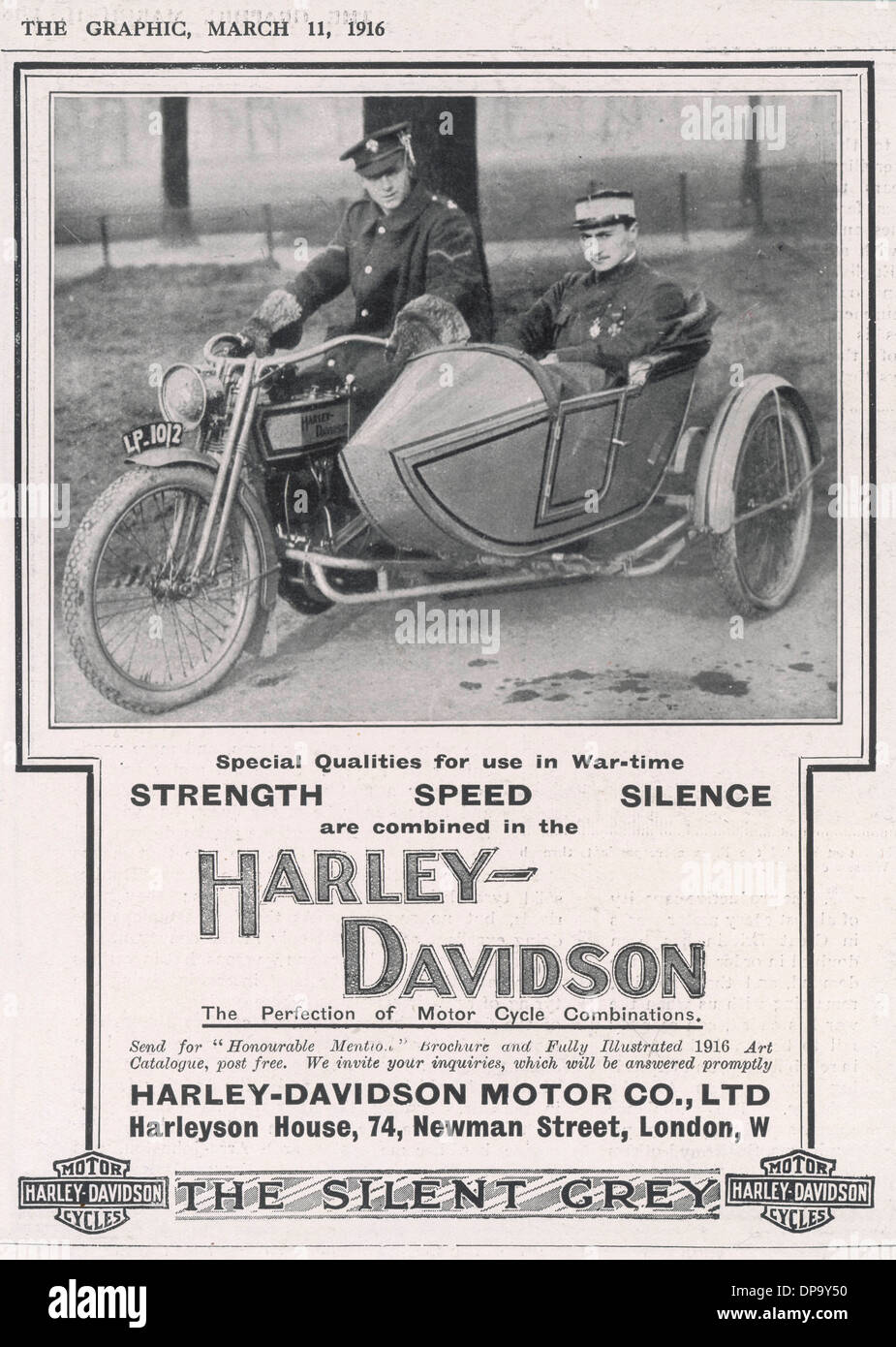 Annonce HARLEY DAVIDSON. Photo Stock
