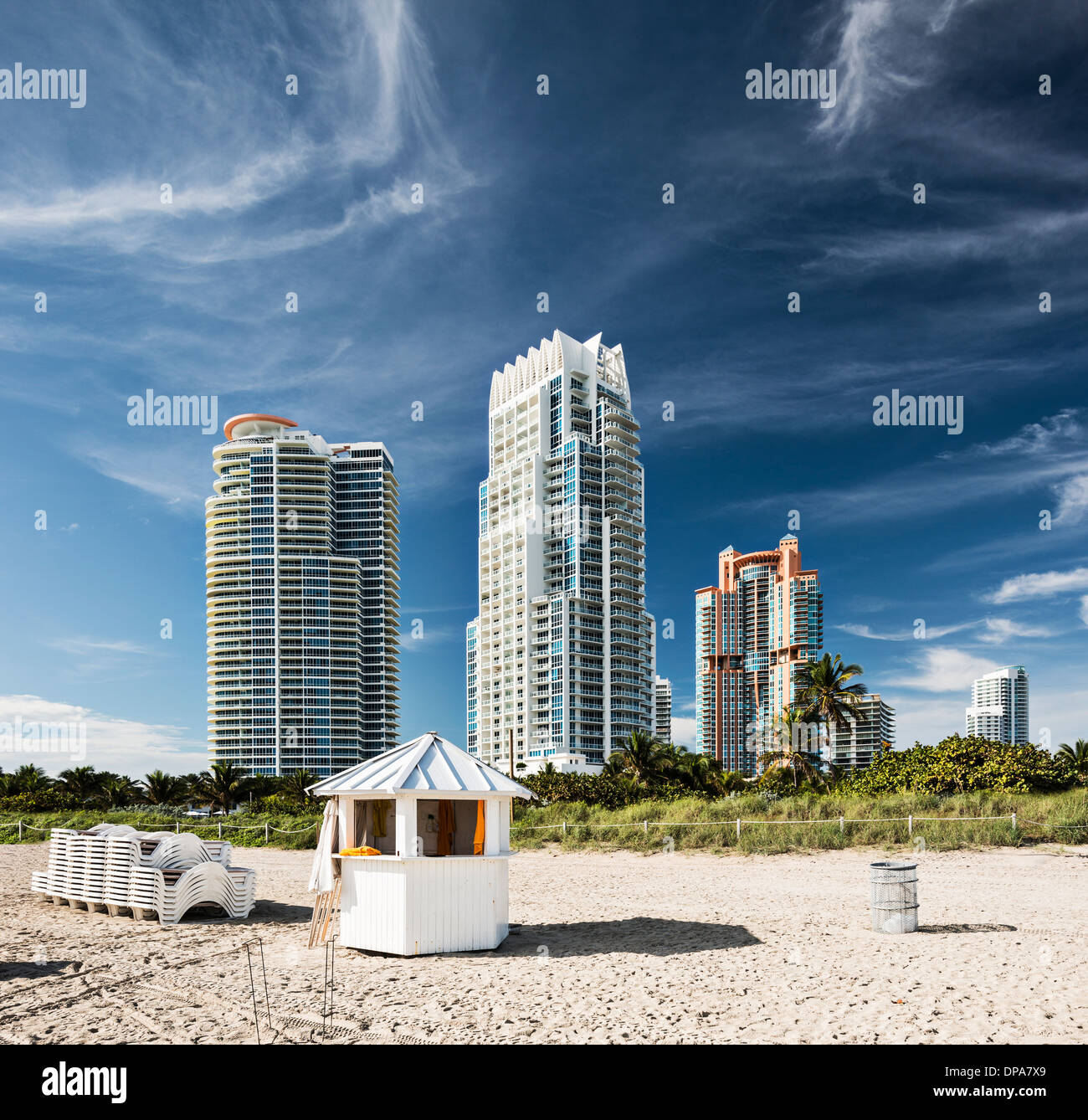 Miami Beach Appartements de grande hauteur Photo Stock