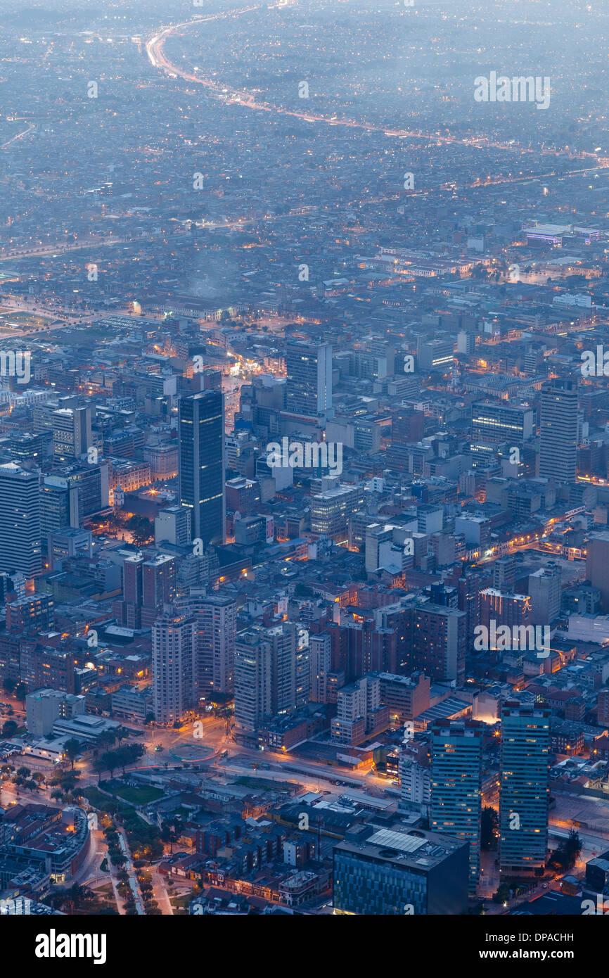 Vue de Bogota, Monserrate, Bogota, Colombie, Amérique Latine Photo Stock