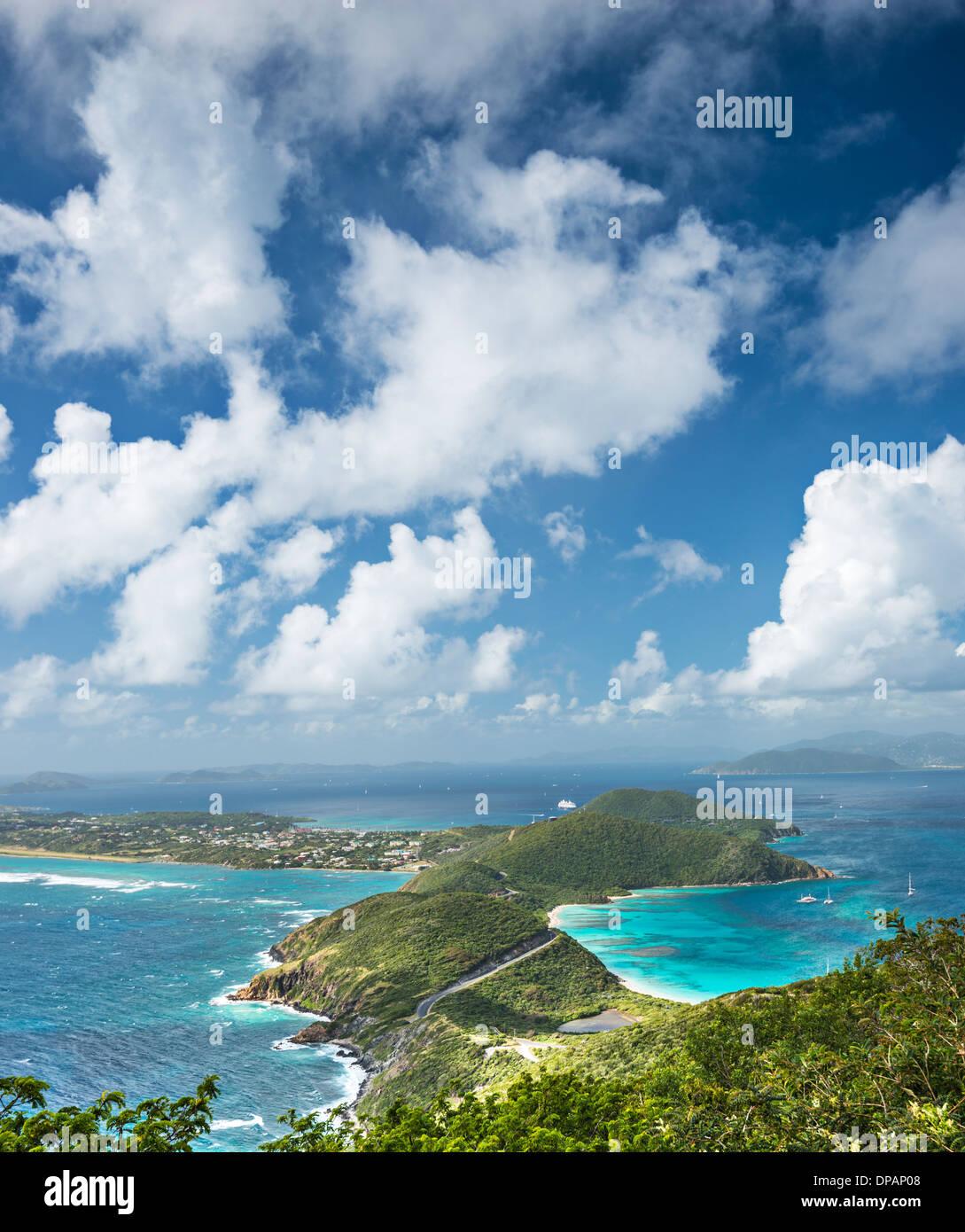 Virgin Gorda , Îles Vierges britanniques dans les Caraïbes. Photo Stock