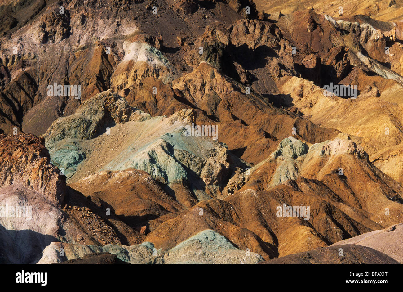 Elk248-1463 Californie, Death Valley National Park, les artistes, les artistes de palette Photo Stock