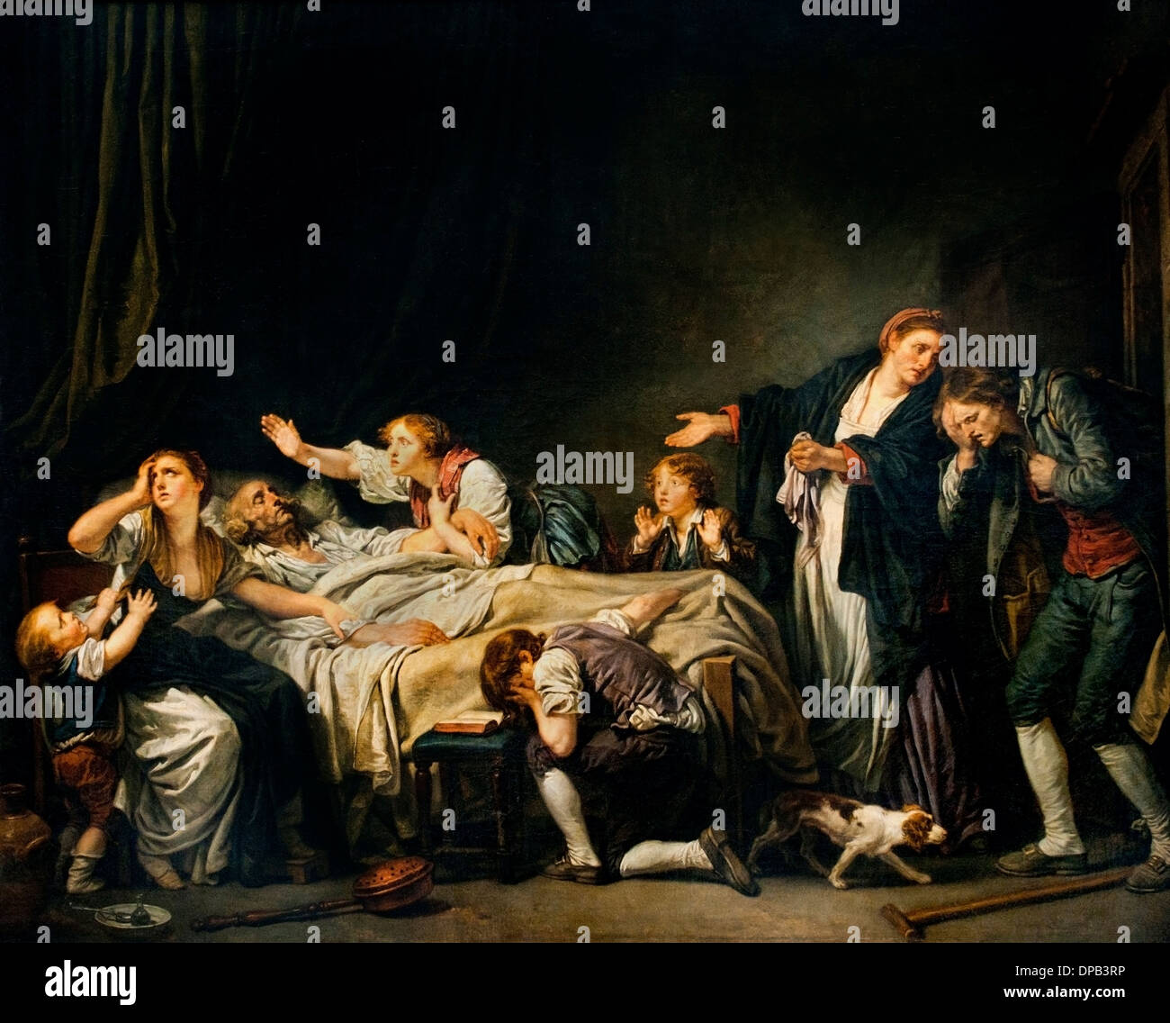 Malédiction paternelle fils puni 1778 Jean Baptiste GREUZE 1725 -1805 Français France Photo Stock
