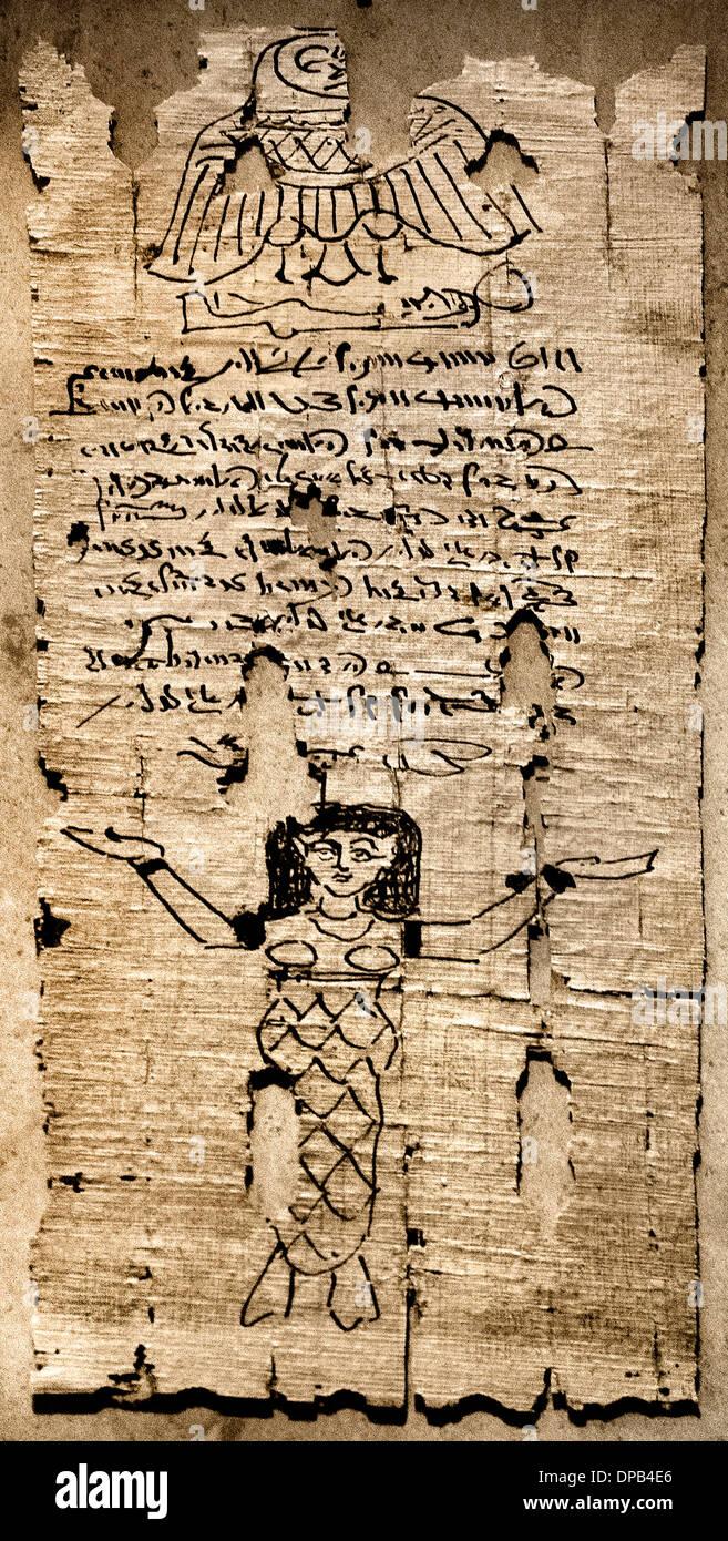 Texte religieux égyptien Égypte Romaine AD 100-300 Banque D'Images