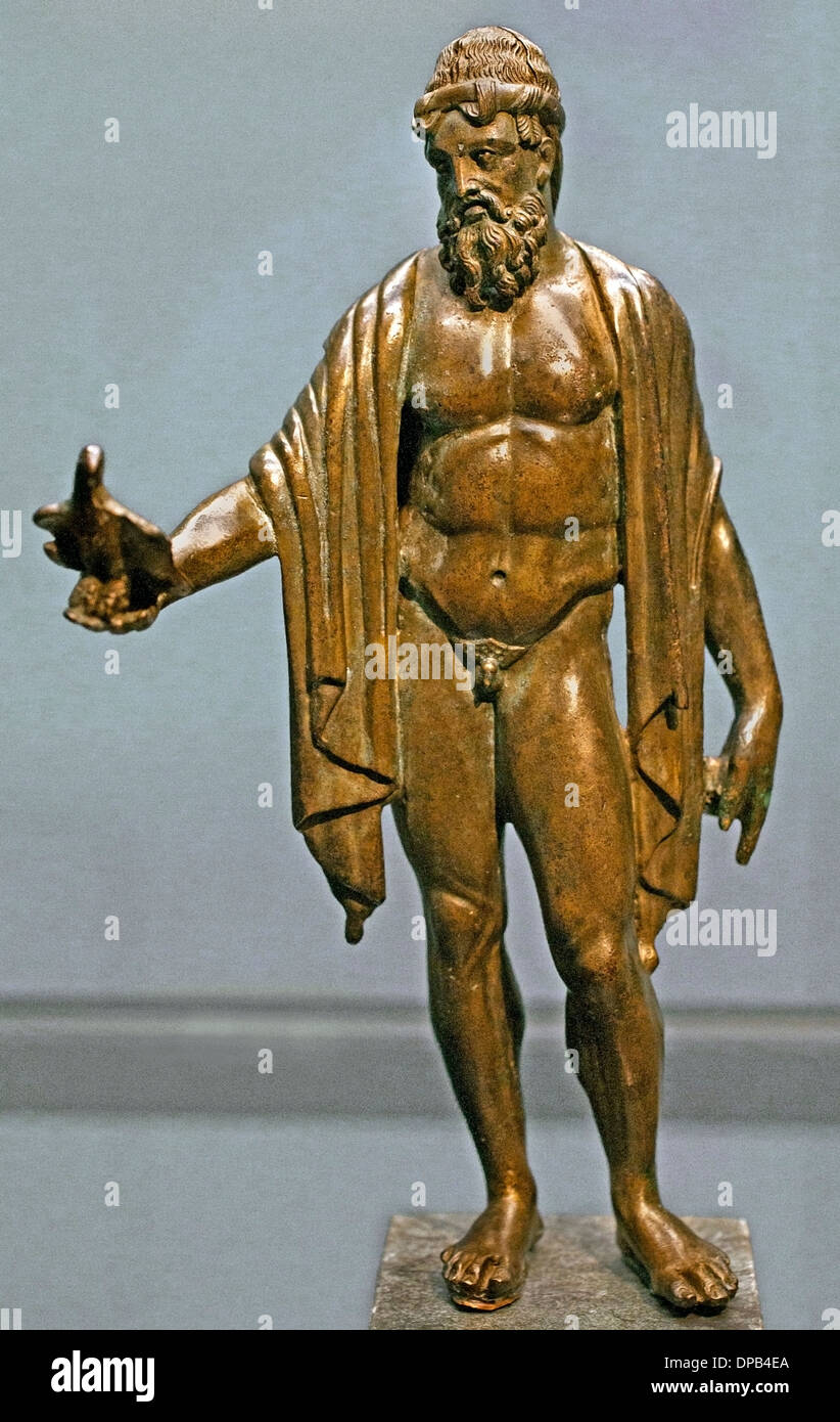 - Zeus Jupiter Dieu du ciel avec sa sainte eagle 200 Grèce grec Romain AD Photo Stock