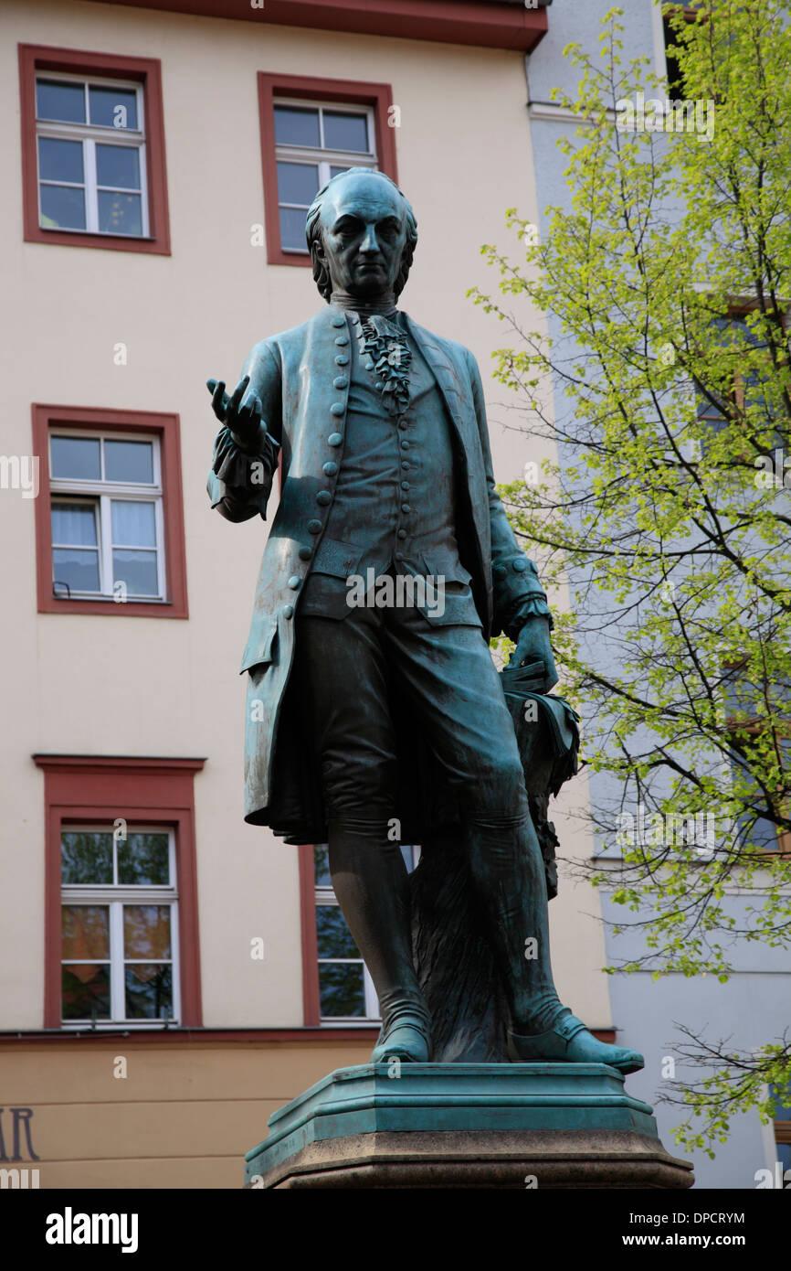 Monument de Wieland, Weimar, Thuringe, Allemagne, Europe Banque D'Images