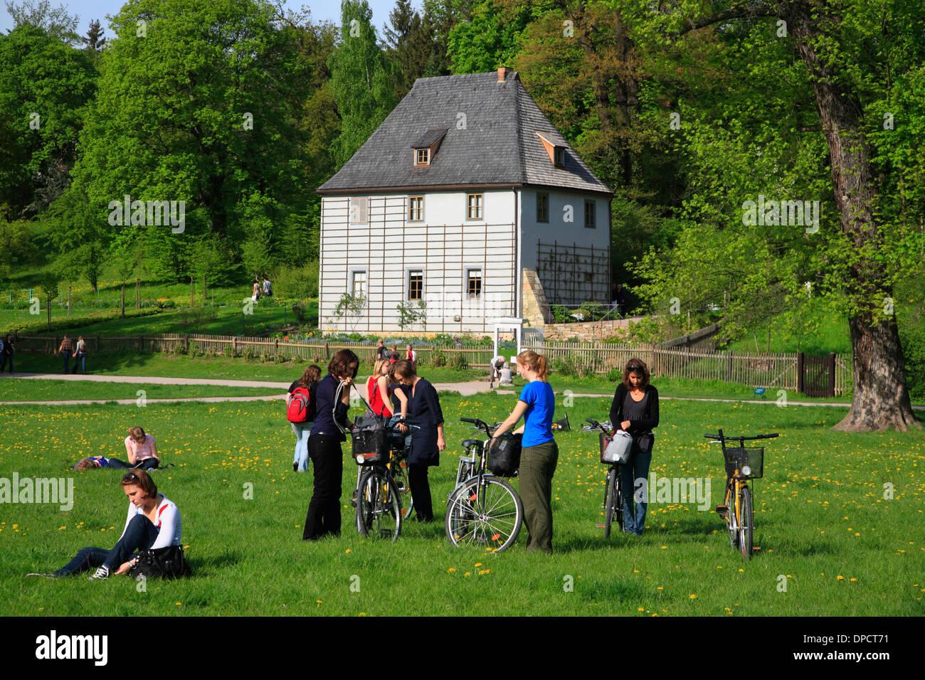 Goethe Garden House au parc Ilm, Weimar, Thuringe, Allemagne Banque D'Images