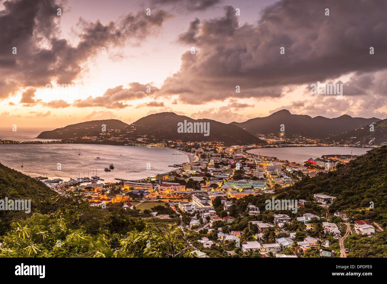 Philipsburg, Saint Martin dans les Caraïbes. Photo Stock
